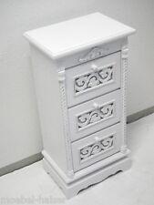 Kommode Kästchen Nachttisch Nachtschrank – weiß - Holz - Landhaus Shabby-Stil