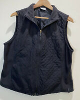 Columbia Women's Black Quilted Vest Size Full Zip Large L