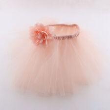 Baby Newborn Headband Tutu Skirt Matching Hairband Photography Prop Baby pink