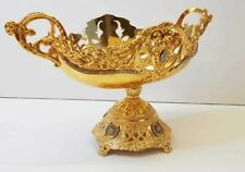 More details for sweets bowl encrusted with golden colour for sweet / home decorative