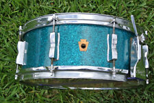 1950's William F Ludwig BUDDY RICH Super Classic BLUE SPARKLE SNARE DRUM! #D89