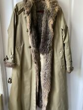 FUR LINED JOBIS TRENCH COAT MADE IN GERMANY