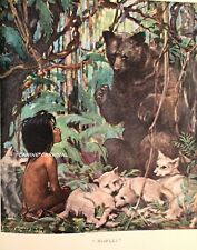 MOWGLI THE JUNGLE BOOK PRINT BEAR  JESSE WILCOX SMITH VINTAGE Art  1923