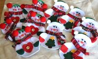 8 x Snowman Christmas Cutlery Holders Xmas Table Decorations Novelty Gifts