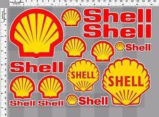 1set shell oil auto lube racing decal sticker print die-cut vinyl motor sport