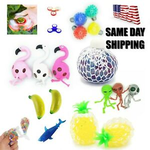 Stress Relief Sensory Squishy Fidget Fun Hand Toys Ball Emoji Animal Spinner