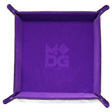 "PURPLE Velvet Folding Dice Tray 10"" x 10""  Metallic Dice Games LIC537"