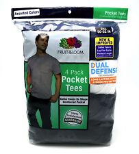 Fruit of The Loom Men's 4pk Pocket Tee - Black/gray 2xl