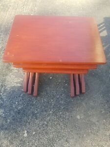 Vintage Nathan Nest Of Tables 1970s