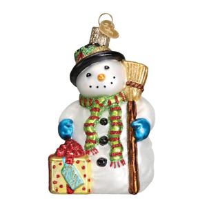 Old World Christmas GLEEFUL SNOWMAN (24164)N Glass Ornament w/ OWC Box