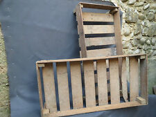 Lot de 2 anciennes caisses en bois pour pommes de terre clayettes deco chalet