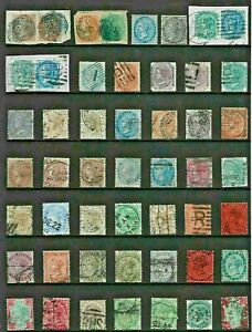 Asia INDIA Stamp Collection VICTORIAN ISSUES Postmark INTEREST Ref:QV440a