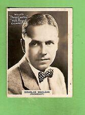#D303. 1925-1930  FAMOUS FILM  STAR  WILLS CIGARETTE CARD #51  DOUGLAS  MACLEAN