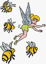 """Tinker Bell abejas puntada cruzada contada Kit de 11"""" X 15"""" Disney"""