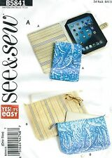 See & Sew 5841 E-Book Reader Covers, Notebook and Laptop Cases   Sewing Pattern
