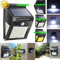 30 LED PIR Motion Sensor Activated Solar Lamp Outdoor Garden Security Wall Light