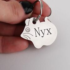 Custom Engraved Cat Pet Tag Double Sided Personalized ID Mouse Collar Kitty