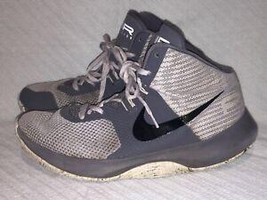 Men's Size 7 Nike Air Precision Gray Basketball Basketball Sneakers 898455-004