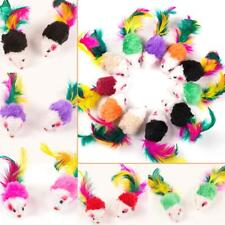 10pcs False Mouse Pet Cat Toys Mini Funny Playing Toys with Colorful Feather