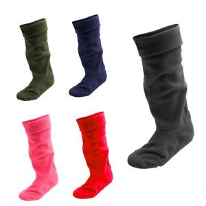 Men Women Ladies Wellie Fleece Wellington Liner Welly Warm Boot Socks 4-7 6-11