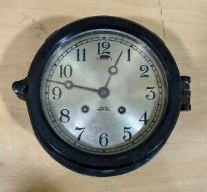 Vintage Chelsea Ship's Bell Clock