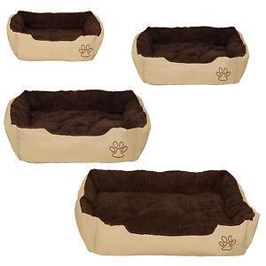 Lit pour chien panier corbeille couchage douillet beige - brun neuf