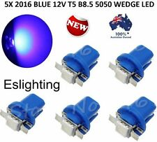 5X 12V T5 B8.5D BLUE LED CAR UTE DASH TWIST LOCK INSTRUMENT CLUSTER GAUGE BULBS