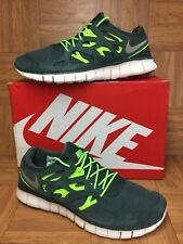 RARE🔥 Nike Free Run 2 Vintage Green Gray Volt Sz 13  Men's Running 537732-303