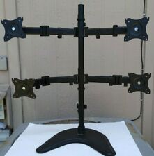 """VIVO Quad Monitor Mount Adjustable Desk Stand Holds 4 LCD Screens up to 27"""""""