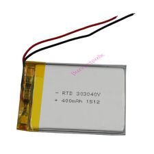 3.7V 400 mAh rechargeable Polymer Li battery For Mp3 GPS Driving recorder 303040