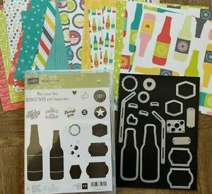 Stampin Up BUBBLE OVER Stamp Set, DIES & Designer Series Paper DSP Bottles Fizz