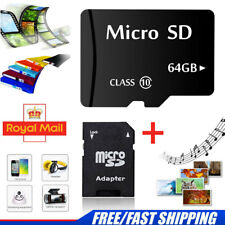 64GB Micro SD Card Class 10 Flash Memory SDHC for Mobile Phones Laptops Cameras