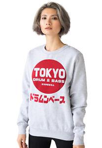 Tokyo Drum and Bass Sweatshirt DnB Japanese Japan Anime DJ Womens Mens Printed