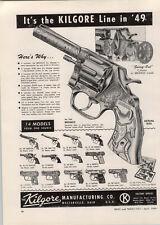 1949 PAPER AD Kilgore Toy Cowboy Cap Gun Pistol Bronco American Long Tom Mountie