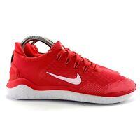 Nike Women's Free RN 2018 Ember Glow White Pink Gaze Running Shoes Size 7.5