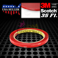 Genuine 3M VHB #4905 Double-Sided Mounting Foam Tape Automotive Car 8mm x 35FT