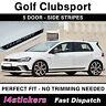 VW Golf GTI MK7 MK7.5 Clubsport 450mm Sticker ONLY - Decals - NO STRIPES
