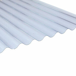 Corrugated PVC Roofing Sheets 3inch Profile 0.8mm | 1.1mm | 1.3mm Thick