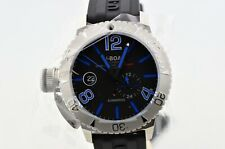 2020 Men's U-Boat Sommerso Blue 46mm Automatic Stainless Watch 9014 24 Hour