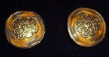 Edgar Berebi Vintage Clip-On Earrings Enamel Goldtone
