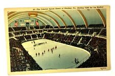 1948 Hershey Sports Hockey Arena Champions Bears Pictured Postcard Pennsylvania
