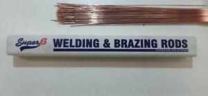 Super6 CCMS Gas & TIG Welding Brazing Rods Copper Coated 1.6mm Diameter 1 Meter