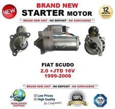 für Fiat Scudo 2.0 + JTD 16V 1999-2006 Brandneu Anlasser 1.7Kw kW 13teeth