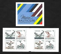 Lithuania 1992 Birds Of The Baltic Shores … COMPLETE BOOKLET … MNH **