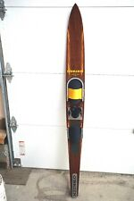 """VINTAGE O'BRIEN SLALOM WATER SKI OLD LOGO COMPETITION 66"""" INLAID SOLID WOOD"""