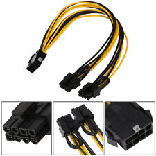 PCI-E 8-Pin to Dual 8-Pin 2x (6+2 Pin) Graphics Video Card Power Splitter Cable