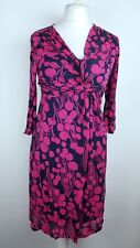 Boden Ladies Stretch Jersey Print Dress UK 10 R Summer Casual Party 3/4 Sleeve