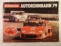 altes Prospekt Heft Katalog Carrera Autorennbahn 79 1979 31 Seiten