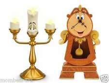 Disney Parks Beauty and the Beast Boxed Cogsworth Clock & Lumiere Light Up