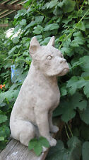 Concrete Large Boxer Dog Garden Statue